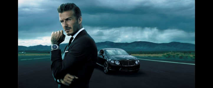 David Beckham figura de la nueva campaña de Breitling for Bentley.